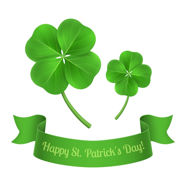 St. patrick's background design Free Vector