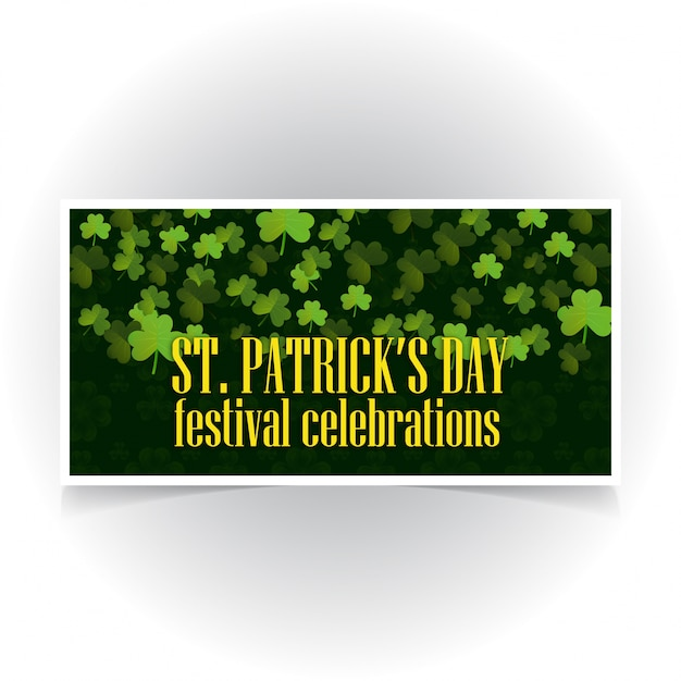 St Patrick's banner with dark background  Free Vector