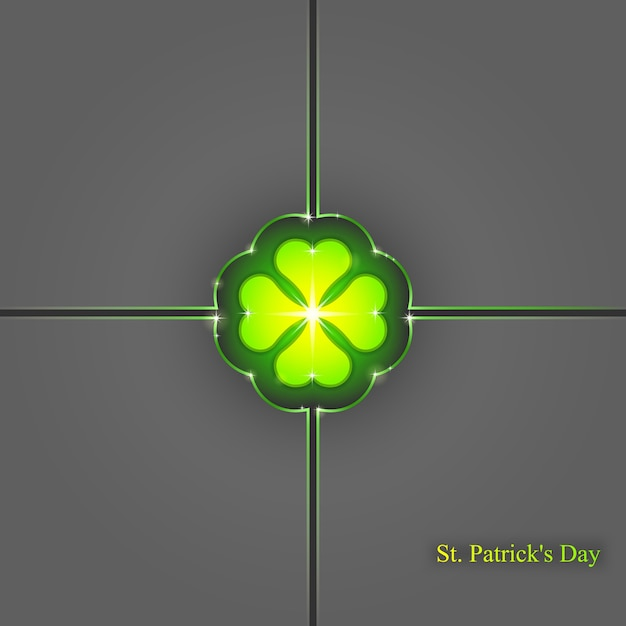 St. patrick's day background, , abstract geometric background Premium Vector