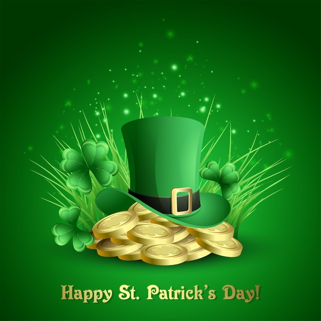 St.patrick's day background.  illustration Premium Vector