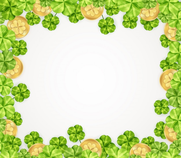 St patrick's day background Free Vector