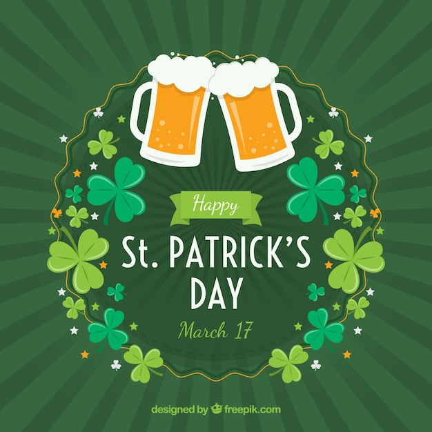 st patrick s day background vector free download