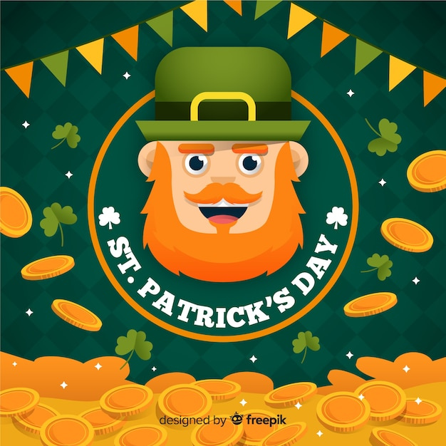 St. patrick's day background Free Vector