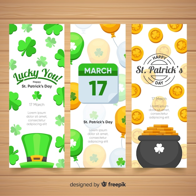 St. patrick's day banner Free Vector