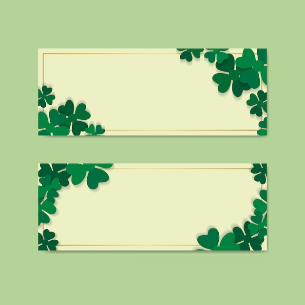 St.patrick's day blank banners set vector Free Vector