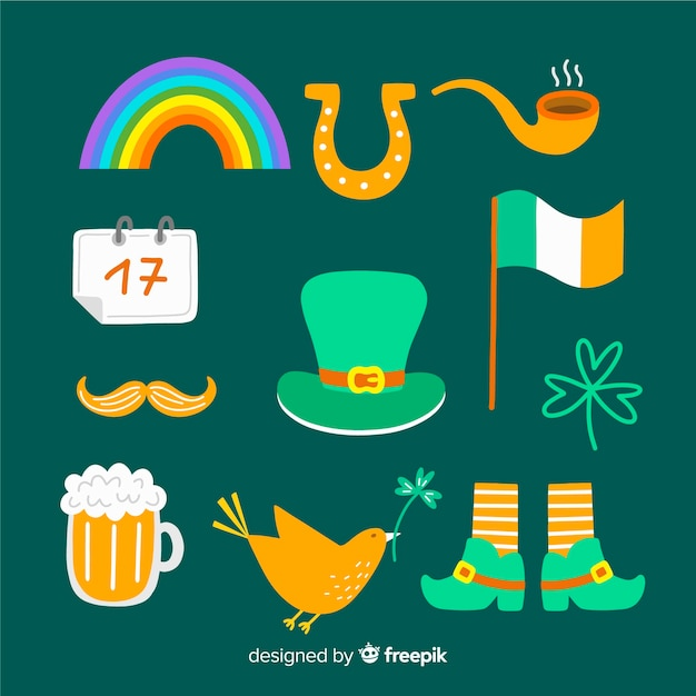 St patrick's day element collection Free Vector