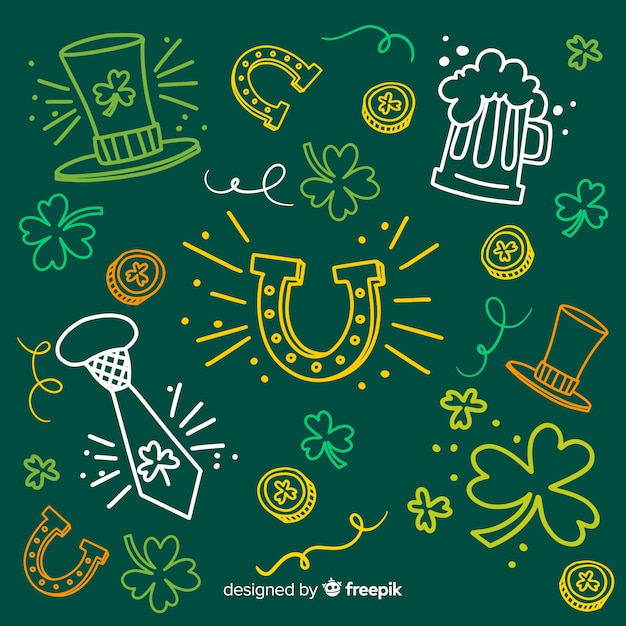 St. patrick's day element collection Free Vector