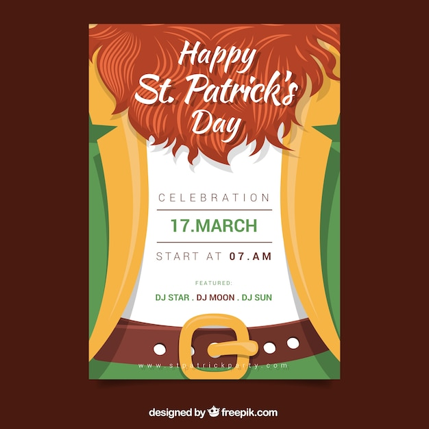 st patricks day event flyer template postermywall