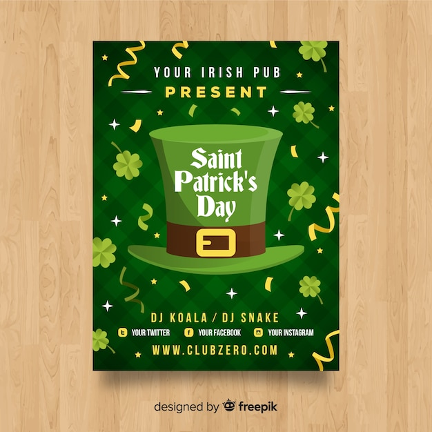St. patrick's day poster Free Vector