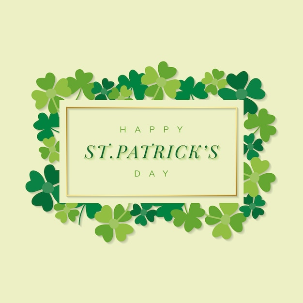 St.patrick's day rectangle banner vector Free Vector