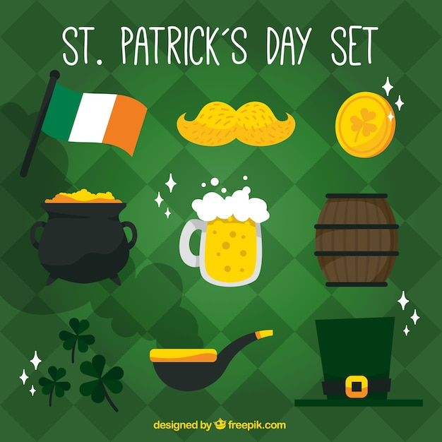 b8d86f5d8 St. patrick's day traditional elements Vector | Free Download
