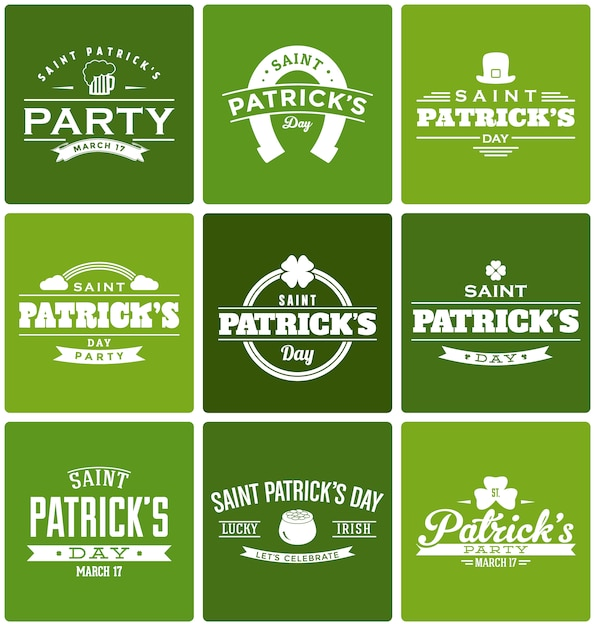 St. patrick's designs collection Free Vector