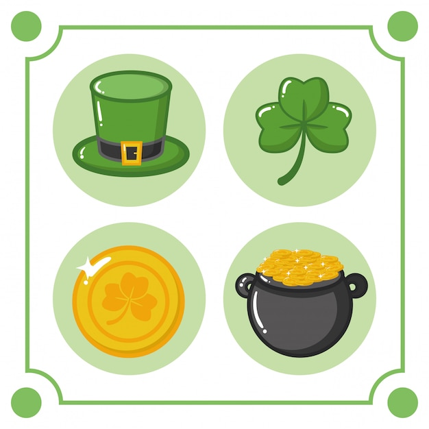St Patricks Day Elements Free Vector