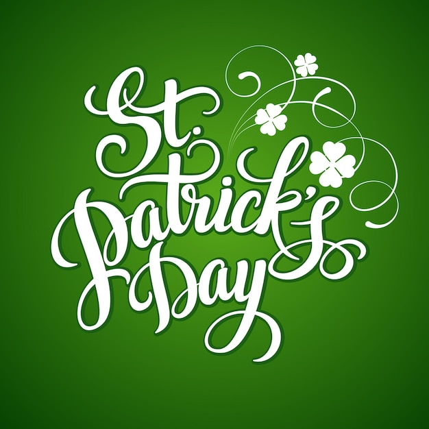 St. patricks day greeting card.  illustration Premium Vector