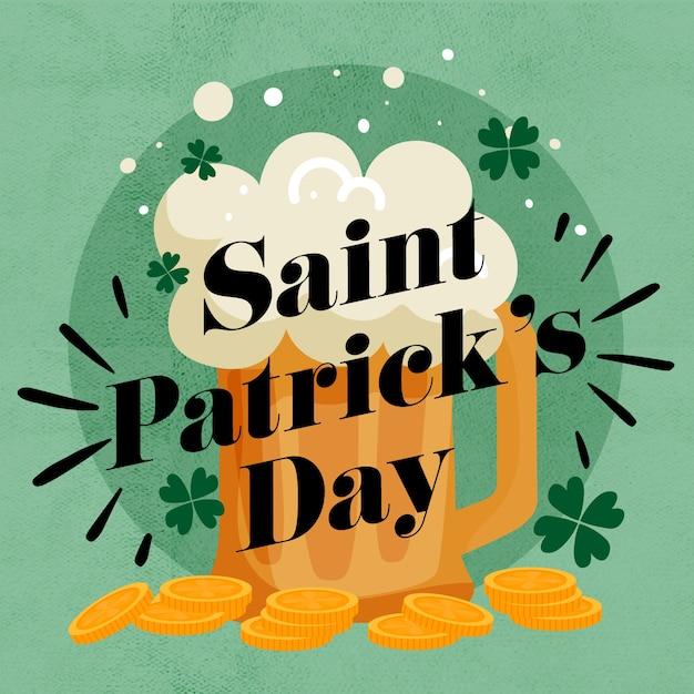 Stパトリックの日の概念をレタリング 無料ベクター