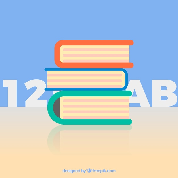Stack of textbooks Free Vector