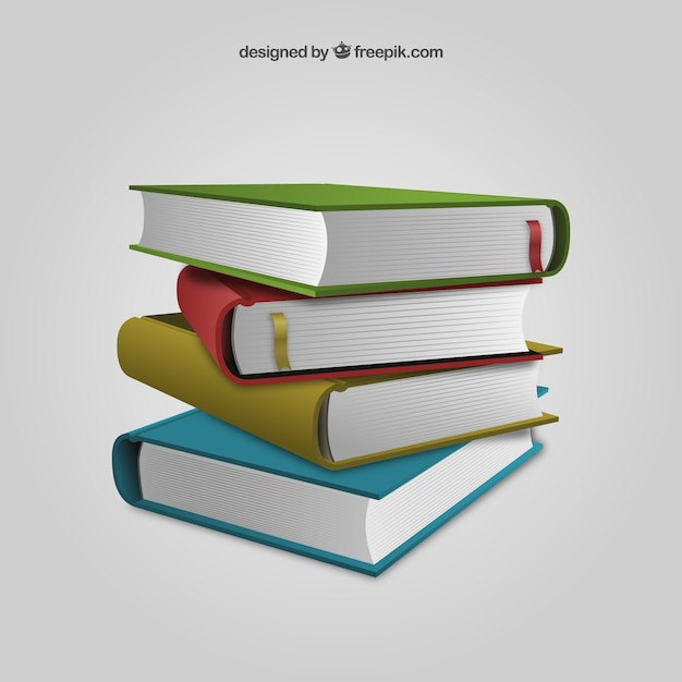 stacked books vector premium download