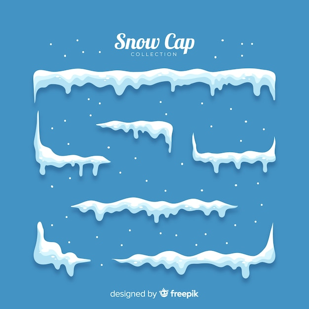 Stacked snow pack Free Vector