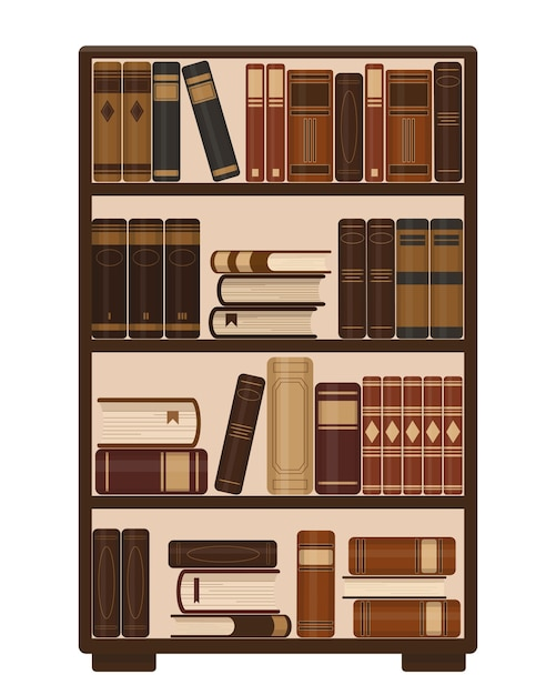 Stacks of books on blue background. Premium Vector