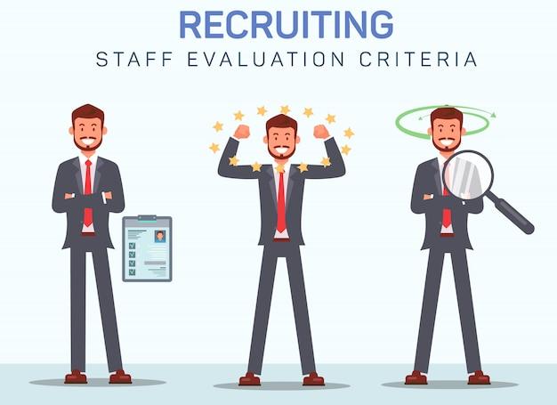 Staff evaluation criteria Premium Vector