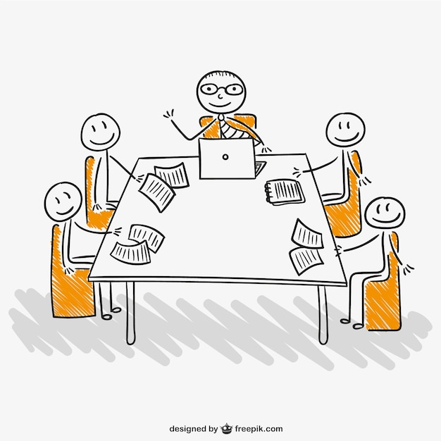 staff meeting vector free download