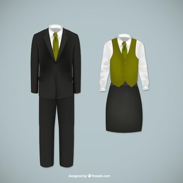 Staff Uniform Vectors Free Vector