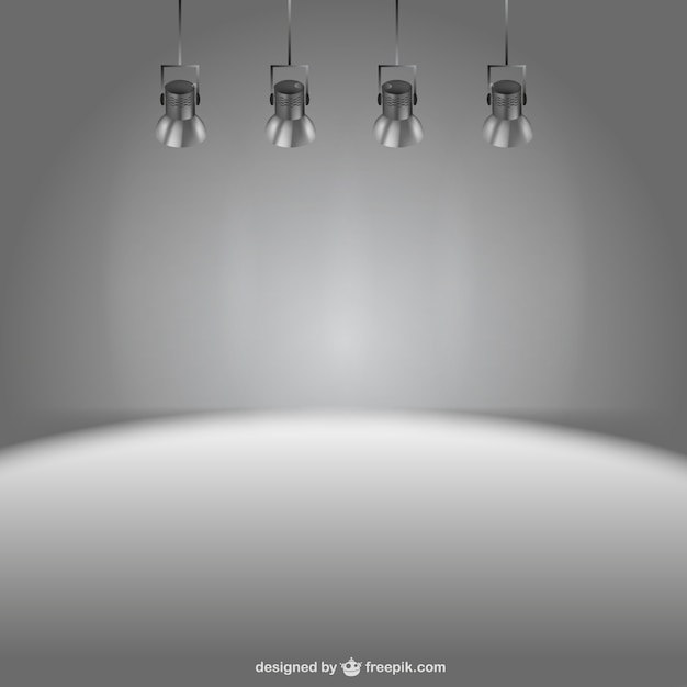 Stage lights background Vector | Free Download