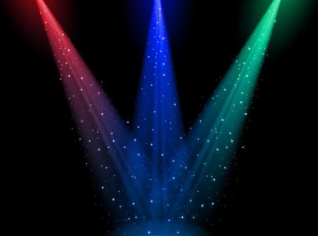 Огни рампы в темноте Бесплатные векторы