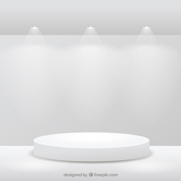 Этап на белой комнате Бесплатные векторы