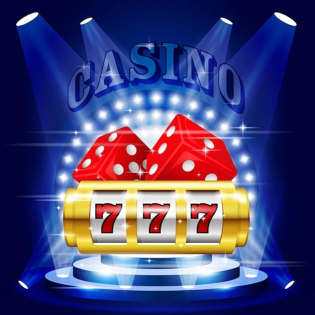 Stage or podium in spotlight rays - casino award pedestal Premium Vector