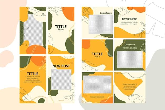 Macchie di modello di storie di instagram di colori Vettore gratuito