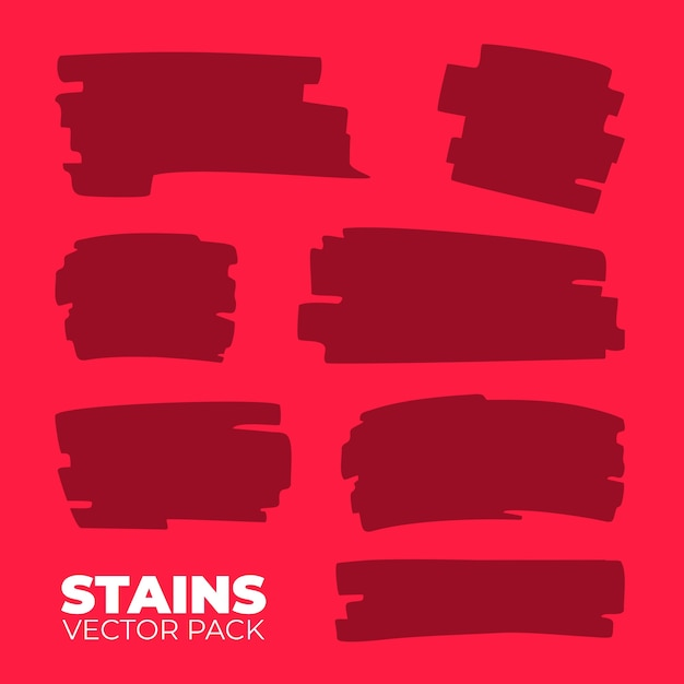 Stains vector pack Premium Vector