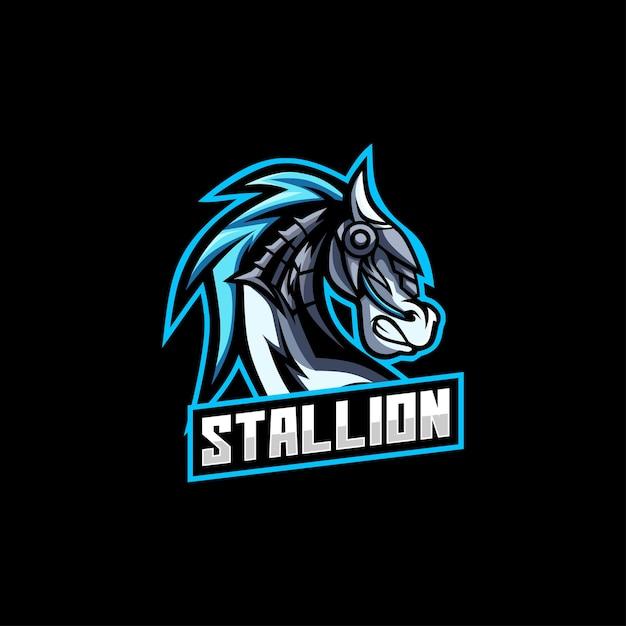 スタリオン馬のロゴ Premiumベクター