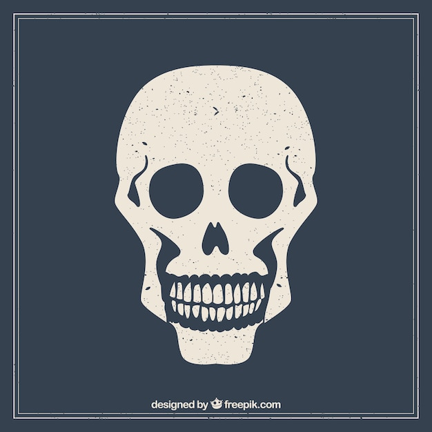 Stamped skull Free Vector