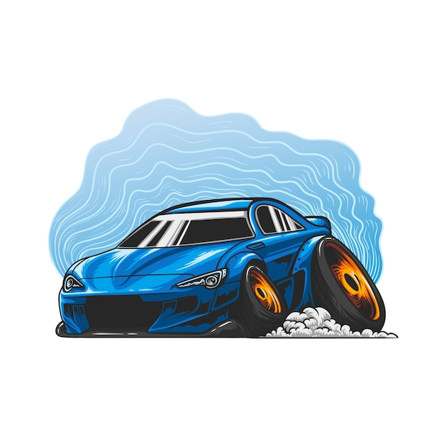 Stance car hand drawn Premium Vector