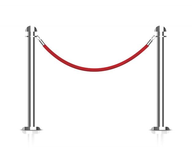 Stanchions barrier. Premium Vector