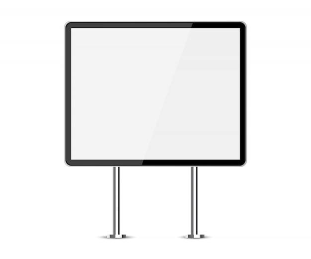 Stand for advertising stand Premium Vector