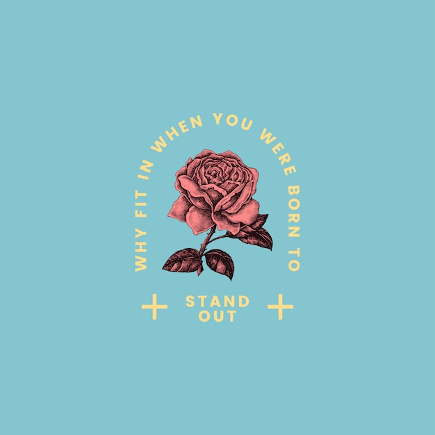 Stand out rose logo design vector Free Vector