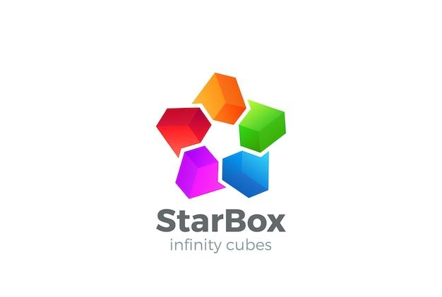Звездные коробки логотип вектор значок. Бесплатные векторы