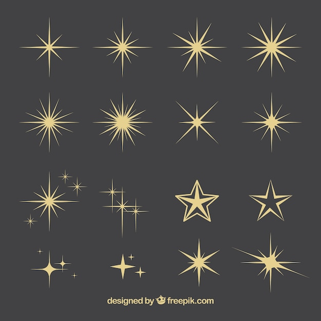 Star collection Free Vector
