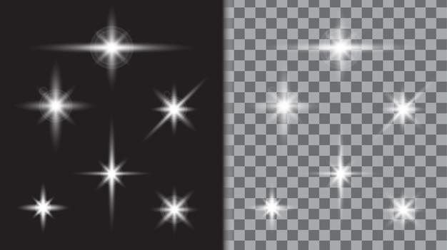 Шаблон вспышки звездного света Premium векторы