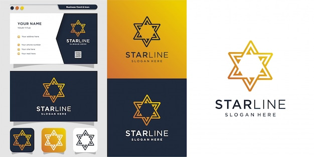 Star logo and business card design template. energy, abstract, card, icon, luxury, star Premium Vector