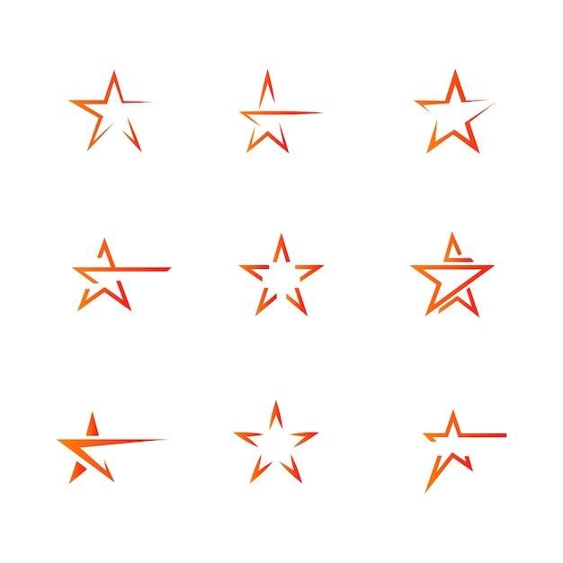 Star logo template vector icon illustration design Premium Vector