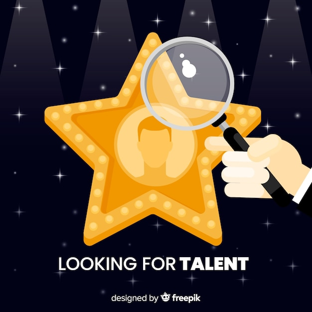 Star looking talent background Free Vector