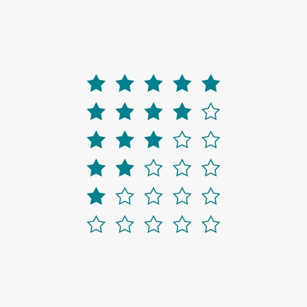 Star rating in blue color Free Vector