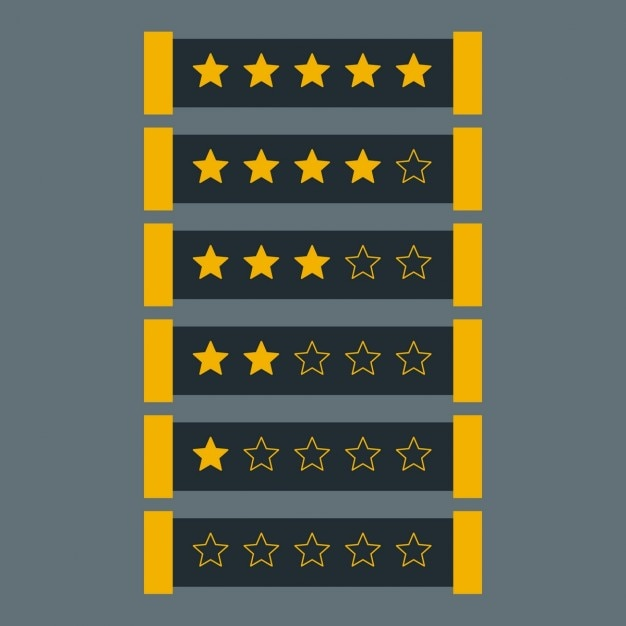 Star rating in dark theme Free Vector