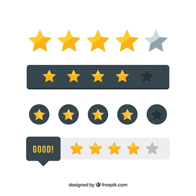 Star rating elements Free Vector