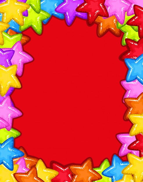 Star red party card Free Vector