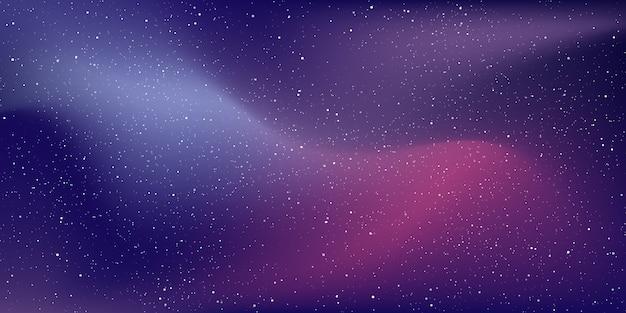 深宇宙の背景にある星の宇宙と星屑、夜には宇宙に星雲がある天の川銀河。 Premiumベクター