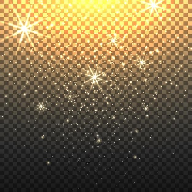 Stardust with transparent background Premium Vector